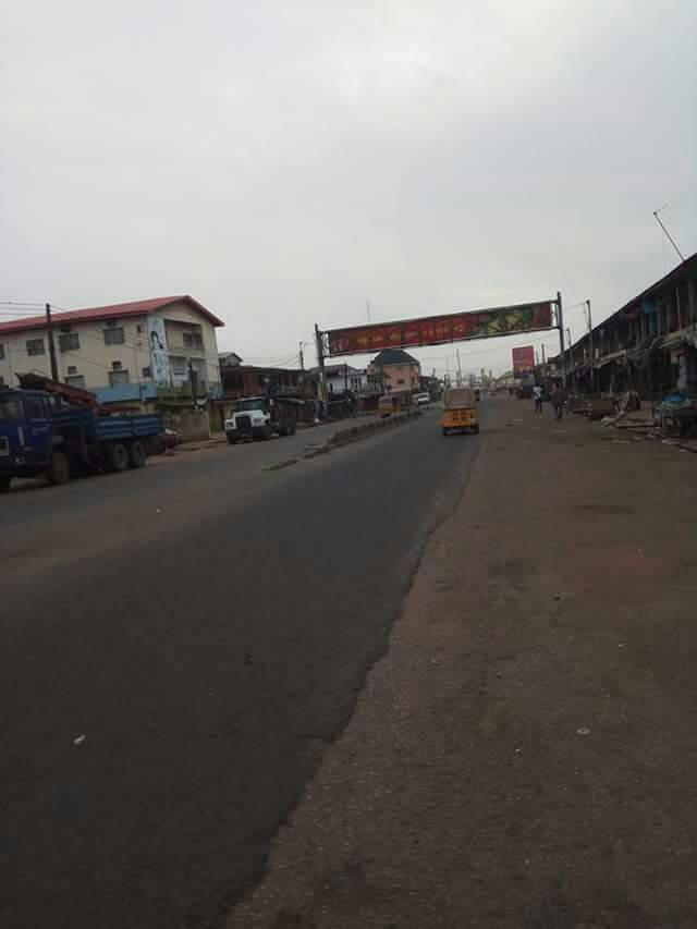 The busiest road in Owerri, Douglas