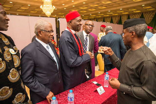 AG PRESIDENT OSINBAJO MEETS WITH SOUTHEAST LEADERS