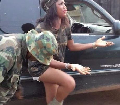 army undress lady