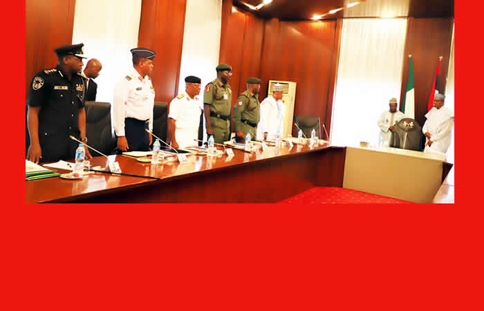 security chiefs with buhari