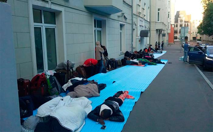 stranded nigerians in moscow