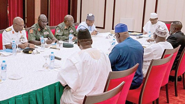 buhari security chiefs