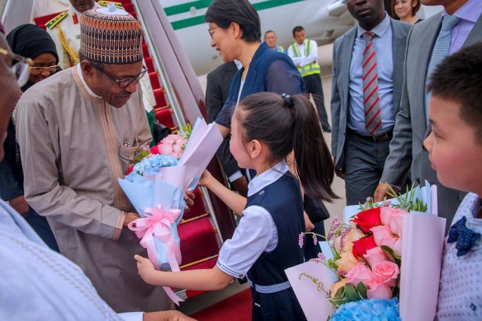 buhari arrives china