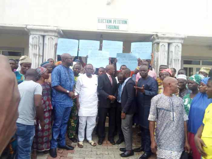 pdp protest in osun tribunal