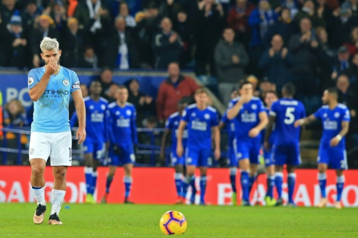 city defeated at leicester