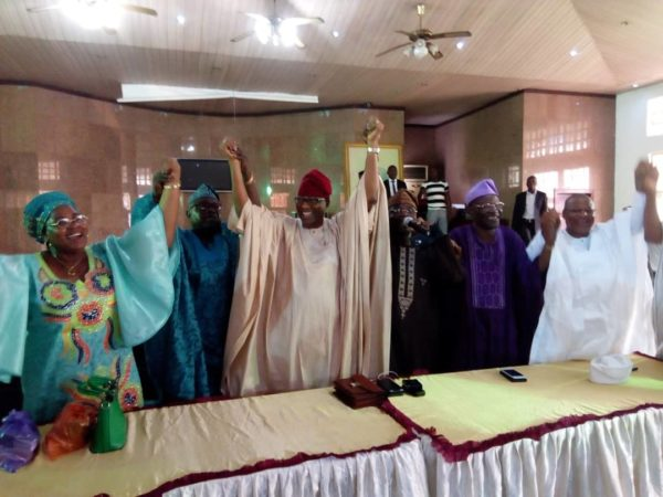 Daniel-with-some-of-his-supporters-at-the-meeting-in-Sagamu-