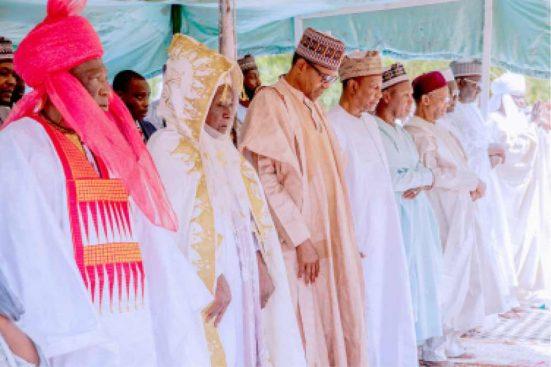 Buhari-Conde-celebrated-Sallah-in-Daura