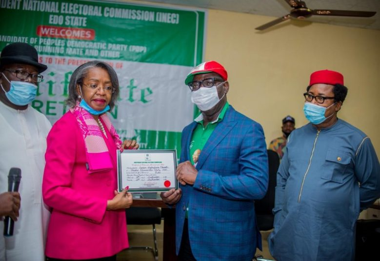 Obaseki-second-right-receiving-his-certificate-of-returns-e1600787128957